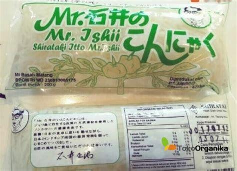 detil produk mie basah shirataki hijau 200gr