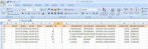 format excel import data e faktur impor data referensi untuk e faktur e pajak online