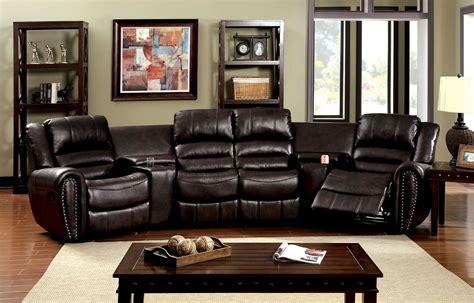 furniture  america  rustic brown reclining theatre