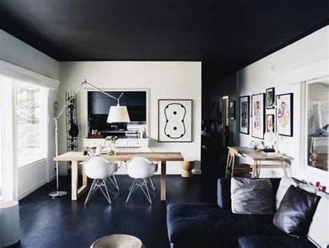black ceiling designs creating modern home interiors