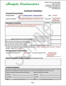 effective business contract document package contractors