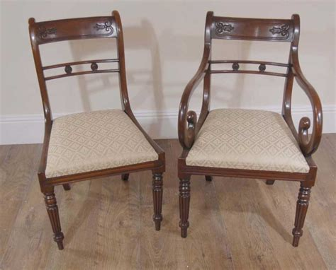regency flower bar mahogany dining chairs