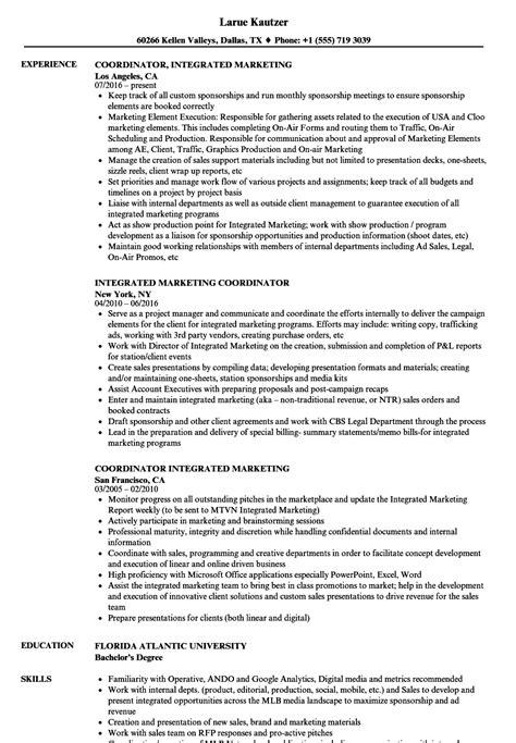 email marketing coordinator resume samples velvet jobs