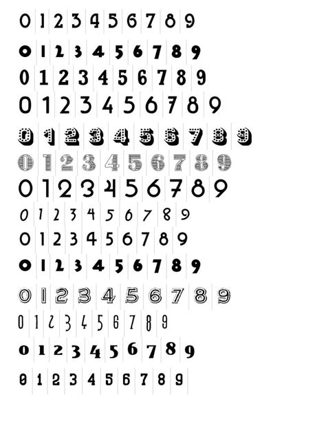 number tattoo fonts numbers