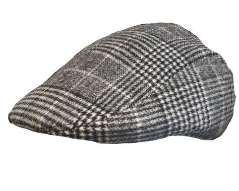 Herringbone Cap mens vintage traditional tweed herringbone peak flat cap