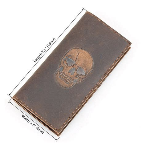 pattern for leather wallet skull pattern leather wallet vintage leather long wallet