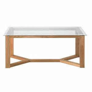Coffee Table With Glass Top Vale Furnishers Vale Oak Glass Top Coffee Table