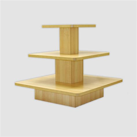 wood square 3 tier displays wood square 3 tier display