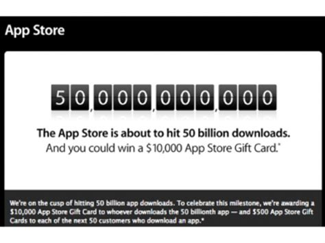 Apple App Store Giveaway - apple nears 50 billion app store downloads plans giveaway ina fried mobile