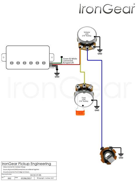 guitar wiring diagram 1 humbucker volume wiring