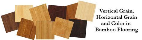Vertical Grain, Horizontal Grain and Color in Bamboo Flooring