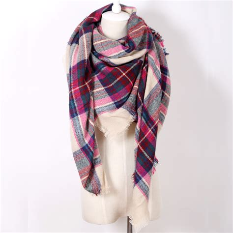 za brand scarf plaid designer acrylic blanket