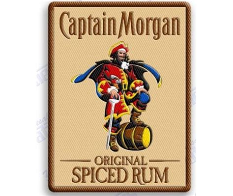 Kitchen Gadgets Captain Morgan Spiced Rum Iron On 100 Embroidered