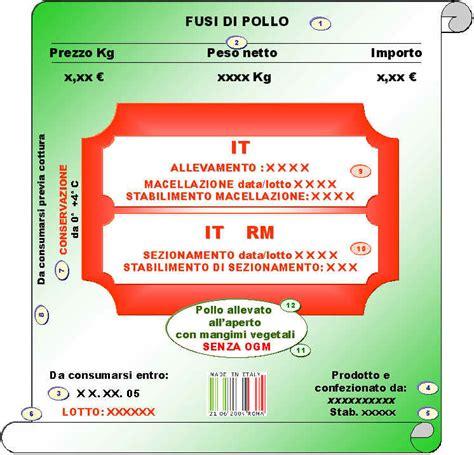 legge etichettatura alimenti etichettatura polli