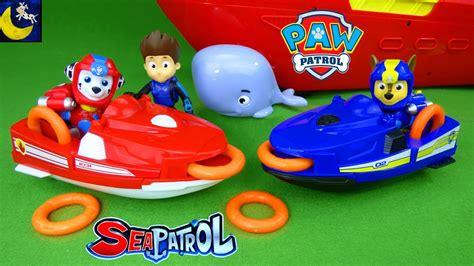 paw patrol boat rescue paw patrol sea patrol chase marshall s rescue jet sea