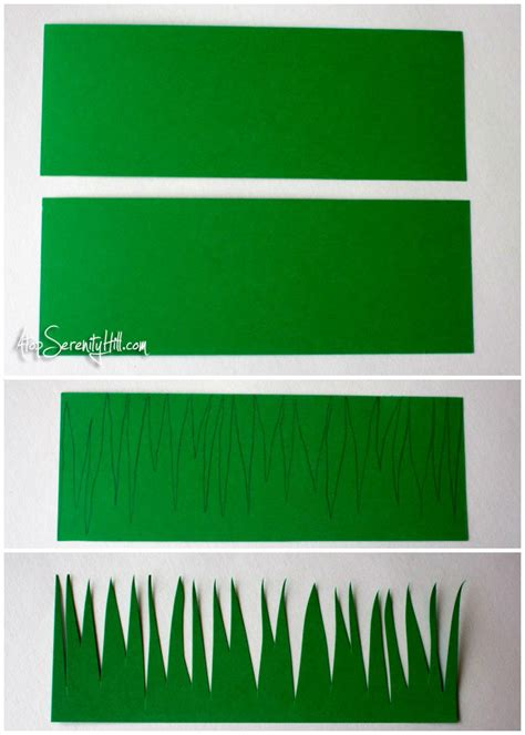 How To Make Grass Out Of Paper - canvas paper easter egg garland atop serenity hill