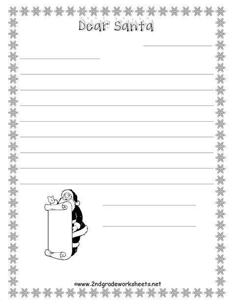 santa letters printable worksheets christmas worksheets and printouts