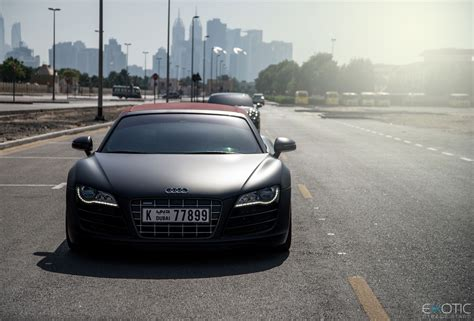 matte about you audi r8 spyder matte black image 466