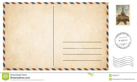mailing a letter vieille carte postale vide d isolement sur le blanc avec 1489