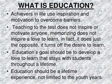 what is selves meaning and definition of education