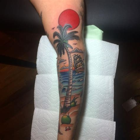 tropical beach tattoo designs 21 designs ideas design trends premium