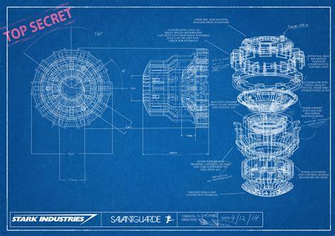 blue print size arc reactor blueprint by savantguarde on deviantart