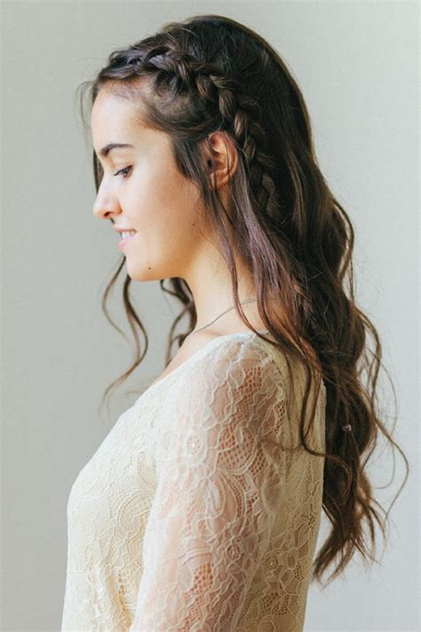 braided down dos hair tutorial how to do a braided half updo belle chic