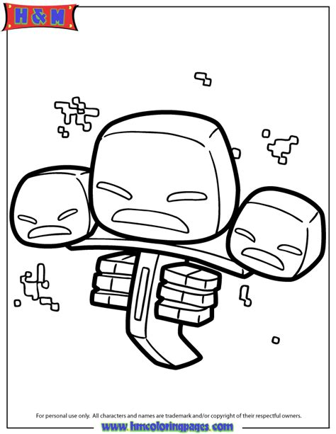 Minecraft Coloring Pages Wither Skeleton | free coloring pages of minecraft wither skeleton