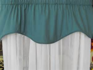 Teal Valance Valance Solid Teal 50w X 18 Lined Corded By Latedawindows