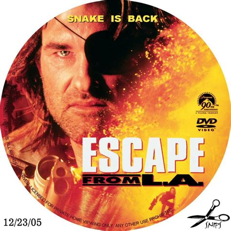 L Covers by Escape From L A Custom Dvd Labels Escape From L A Dvd Covers