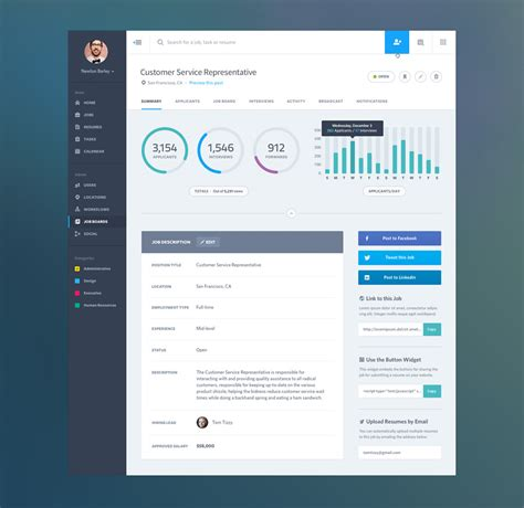 desktop application layout design ui design analytics