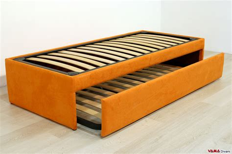letto con secondo letto estraibile doppio letto singolo estraibile a scomparsa con reti a doghe