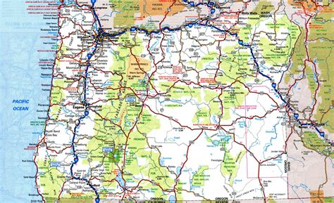 map of oregon cities detailed oregon map afputra