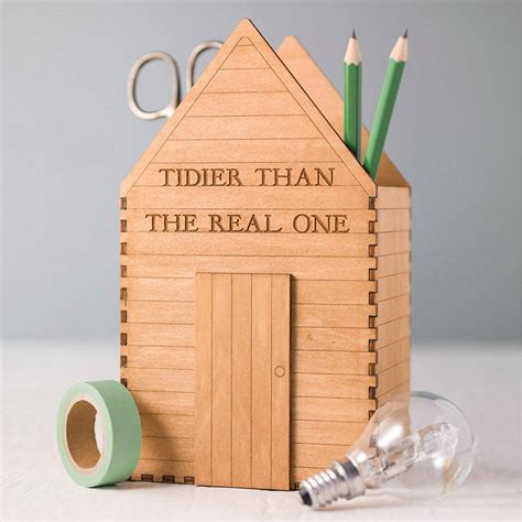 desk gifts for him personalised garden shed desk tidy gift for him by bombus
