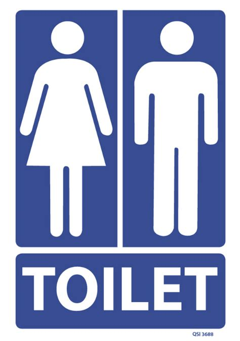 Toilet Sign unisex toilet sign industrial signs