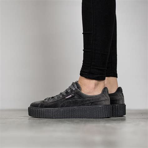 Fenty Rihanna Grey Size 40 Uk Wanita s shoes sneakers creeper velvet x rihanna