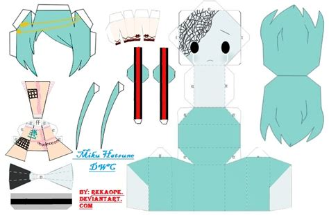 Hatsune Miku Papercraft - miku hatsune dwc papercraft by rekaope on deviantart