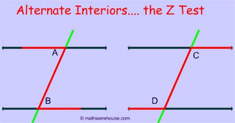 What Is A Alternate Interior Angle by Alternate Interior Angles Definition