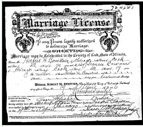 Hennepin County Marriage License Records Herbert Herman Bernstein