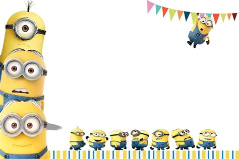 minion card template kiddie link minions invites