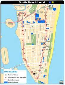 South Beach Miami Map by South Beach Local Bus