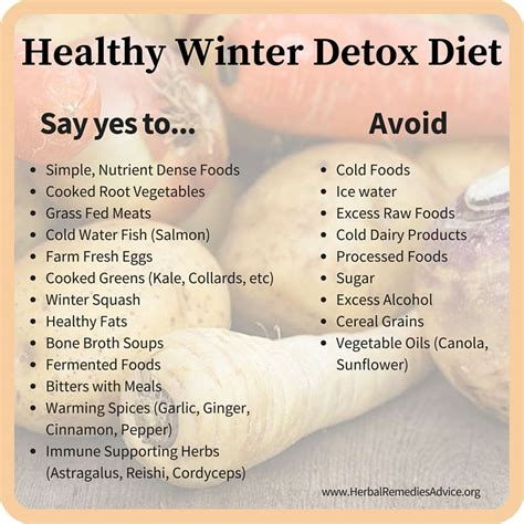 Detox Foods To Avoid by Winter Detox Diet