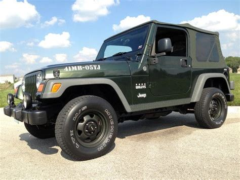 Used Jeep Wrangler Limited Buy Used 2005 Jeep Wrangler 4 0l 4x4 Willys Limited