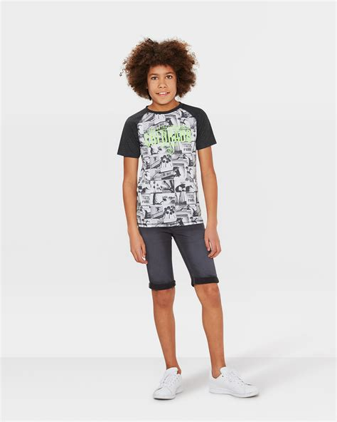 Print Raglan Sleeve T Shirt jongens print raglan sleeve t shirt 79846844 we fashion