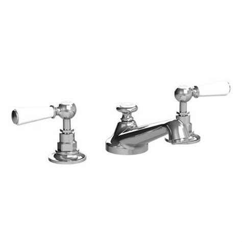 Lefroy Faucets by Lefroy 1900 Classic White Lever Three Basin