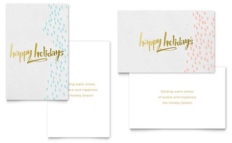 Card Publisher Templates by Gold Foil Greeting Card Template Word Publisher