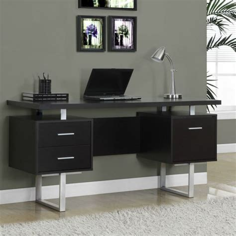 narrow office desk narrow desks for small spaces saving