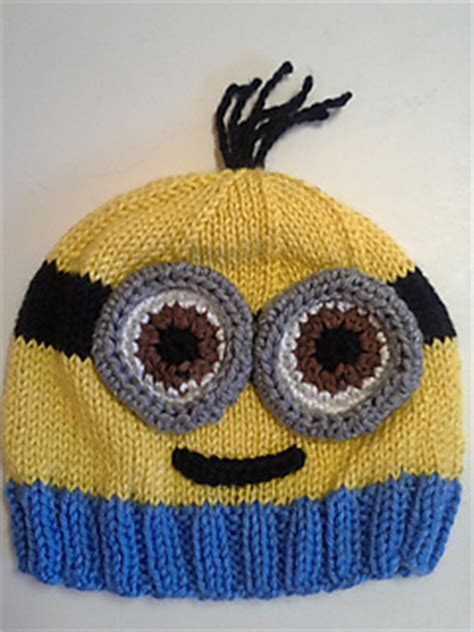 knitting pattern minion despicable me hat ravelry minion hats pattern by lauren irving