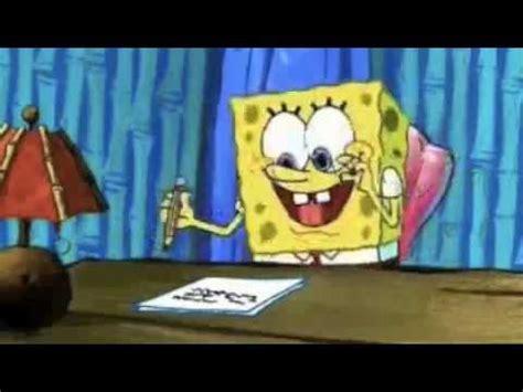 Spongebob Doing Essay by Spongebob Procrastination