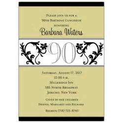 vine chartreuse 90th birthday invitations paperstyle